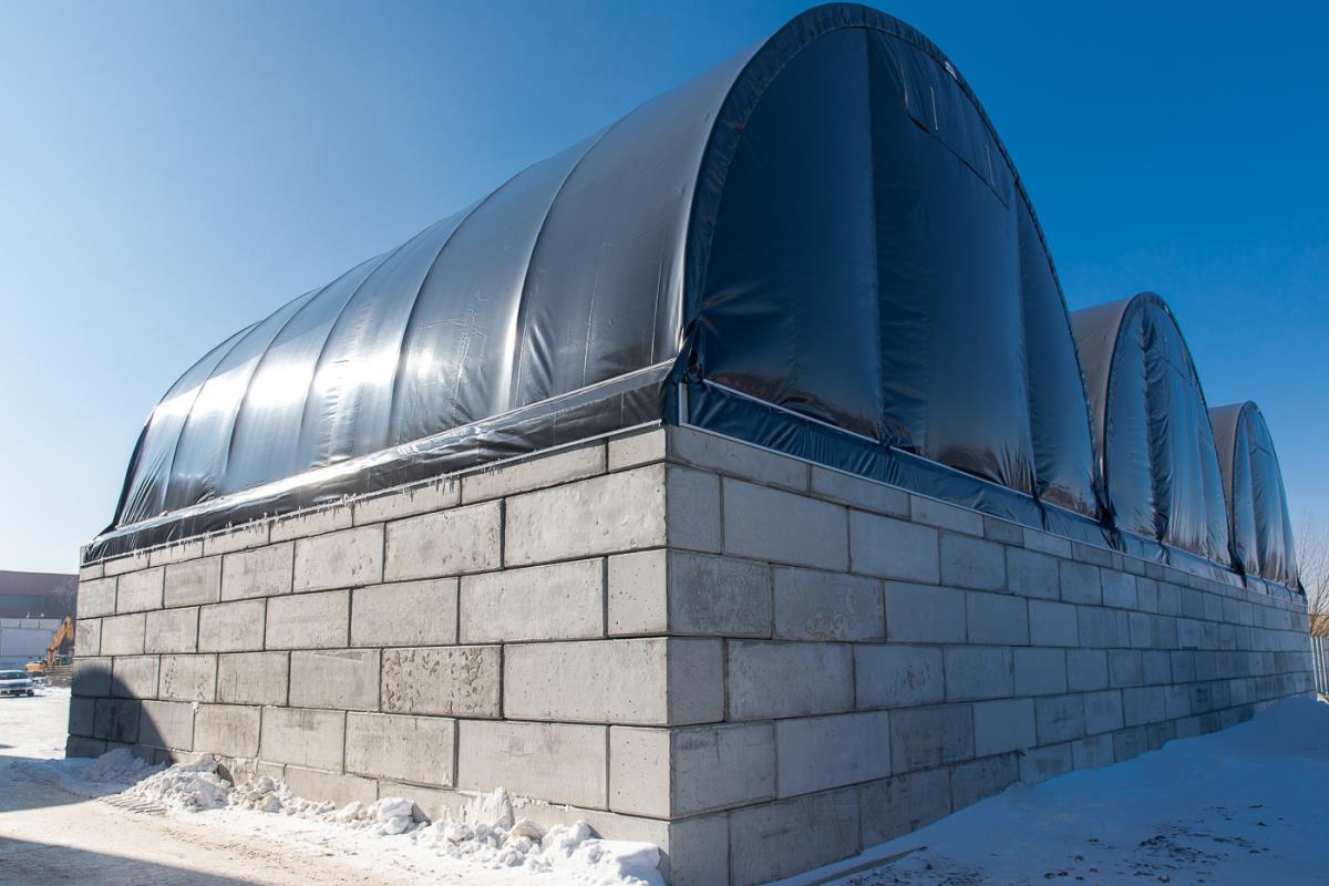 Zadaszenie odpadow w hali Shelterall 3